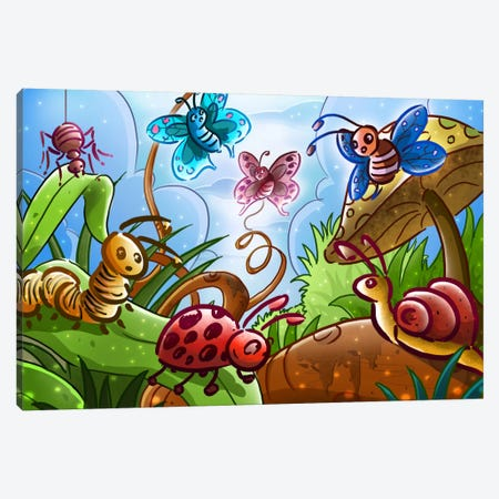 Cartoon Bugs Canvas Print #7109} by Unknown Artist Canvas Art Print