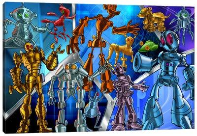 Cartoon Robots Canvas Print #7112