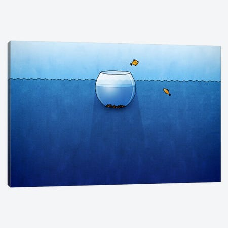 Fishbowl In The Ocean Canvas Print #7116} by Unknown Artist Canvas Print