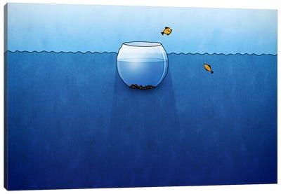 Fishbowl In The Ocean Canvas Art Print