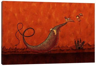 Castle & Dragon Canvas Print #7118