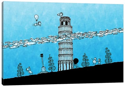 Leaning Tower of Pisa Canvas Print #7122