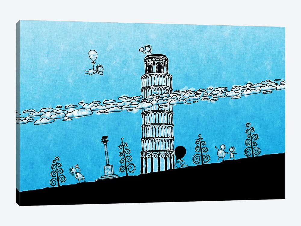 Leaning Tower of Pisa by Unknown Artist 1-piece Canvas Print