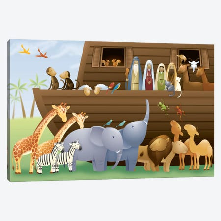 Noah's Ark Canvas Print #7123} by Unknown Artist Canvas Print