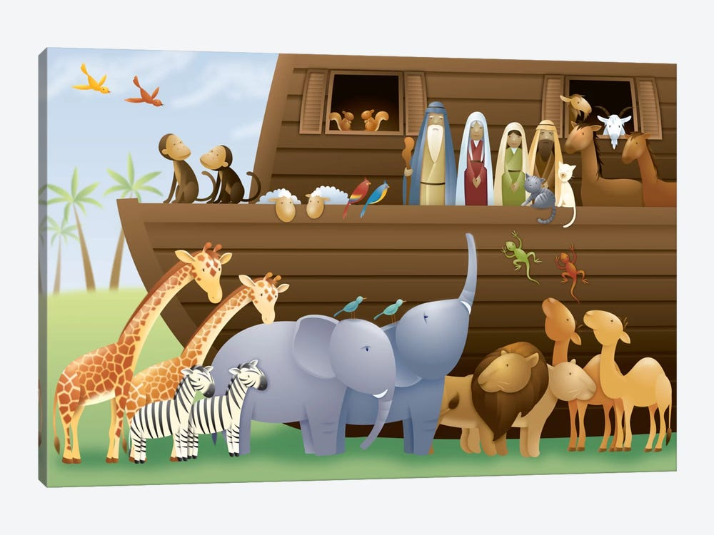 Noah's Ark 1-piece Canvas Artwork