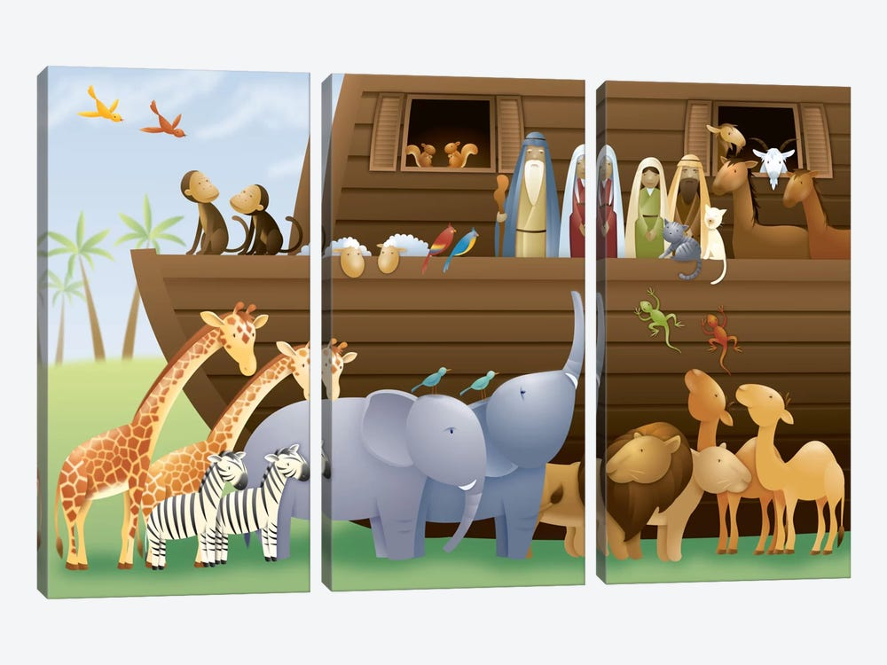 Noah's Ark 3-piece Canvas Artwork