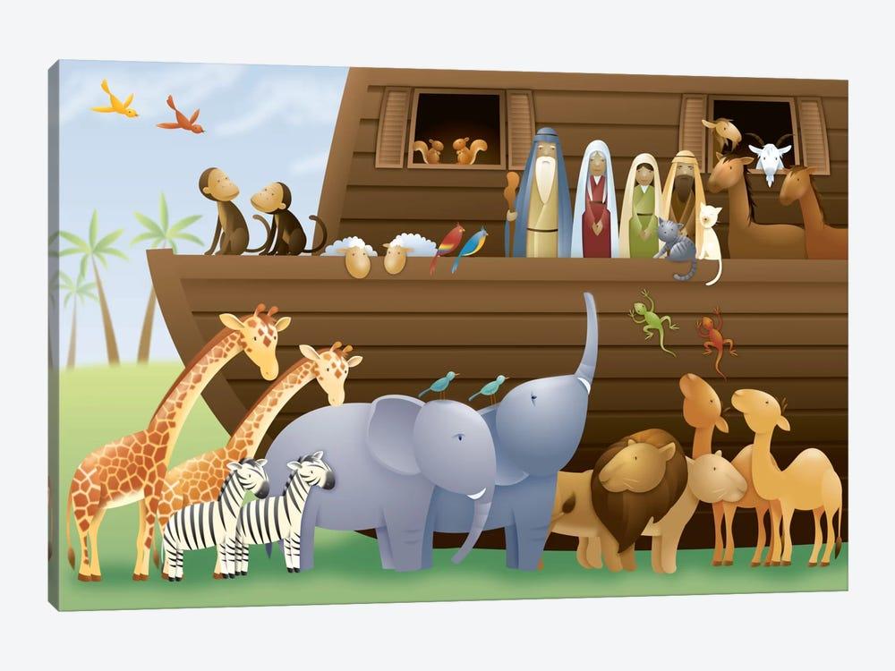 Noah's Ark by Unknown Artist 1-piece Canvas Artwork