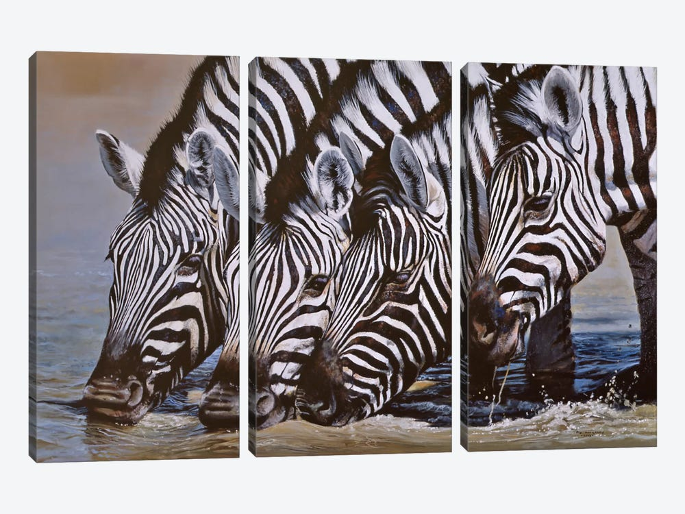 Thirsty Work by Pip McGarry 3-piece Canvas Print