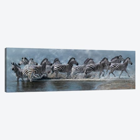 Flight of The Zebras Canvas Print #7140} by Pip McGarry Canvas Print