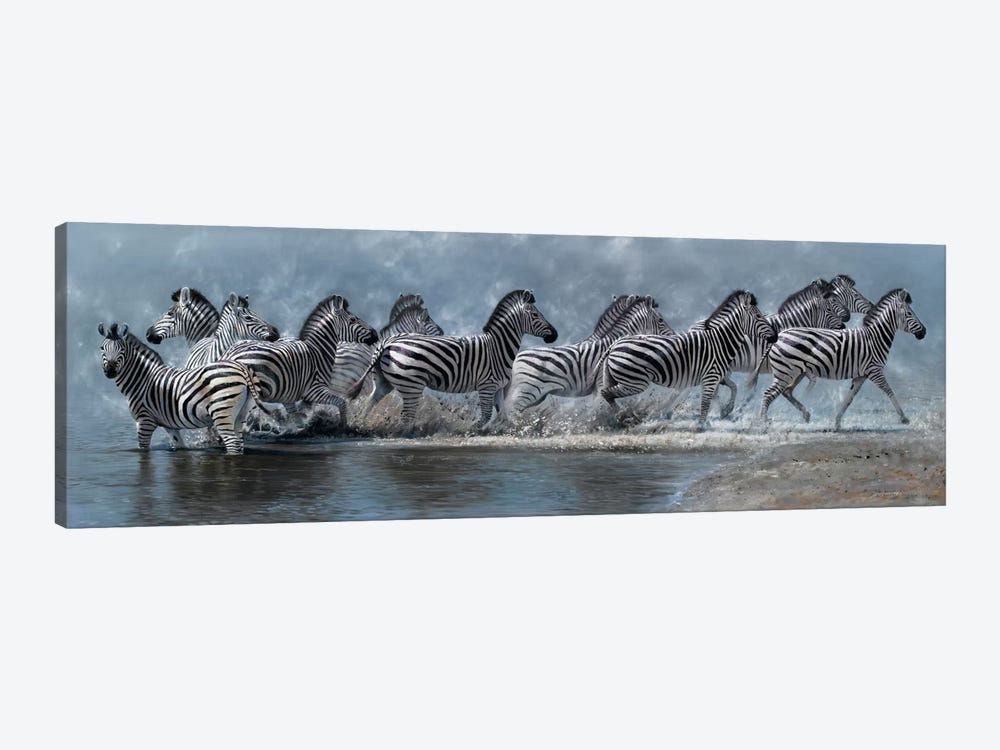 Flight of The Zebras by Pip McGarry 1-piece Canvas Print