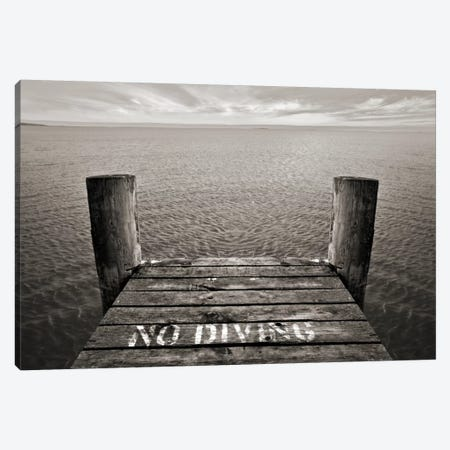 No Diving Canvas Print #7145} by SD Smart Canvas Art