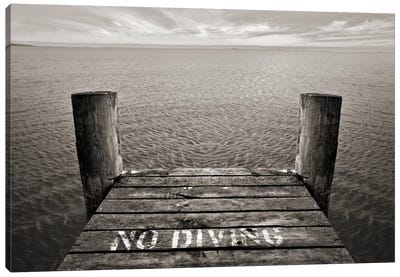 No Diving Canvas Art Print