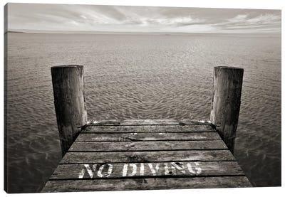 No Diving Canvas Art Print