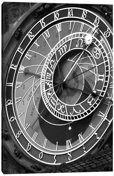 Astronomic Watch Praha 11 by Moises Levy Canvas Art Print