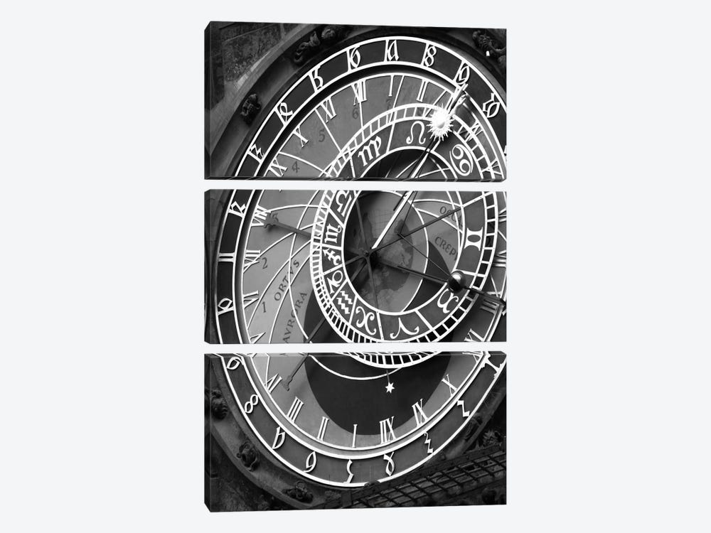 Astronomic Watch Praha 11 by Moises Levy 3-piece Canvas Print
