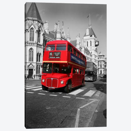 Red Bus Canvas Print #7162} by Christopher Bliss Art Print
