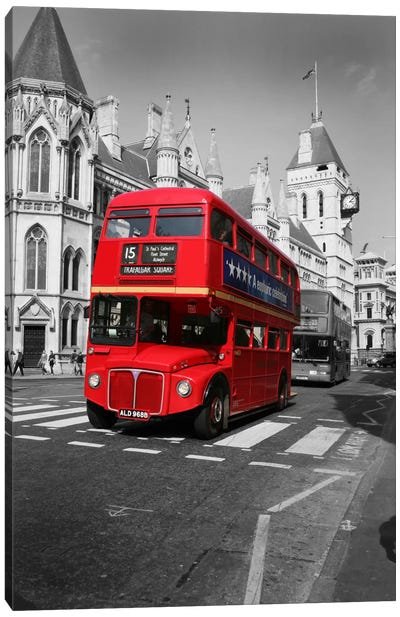 Red Bus Canvas Art Print