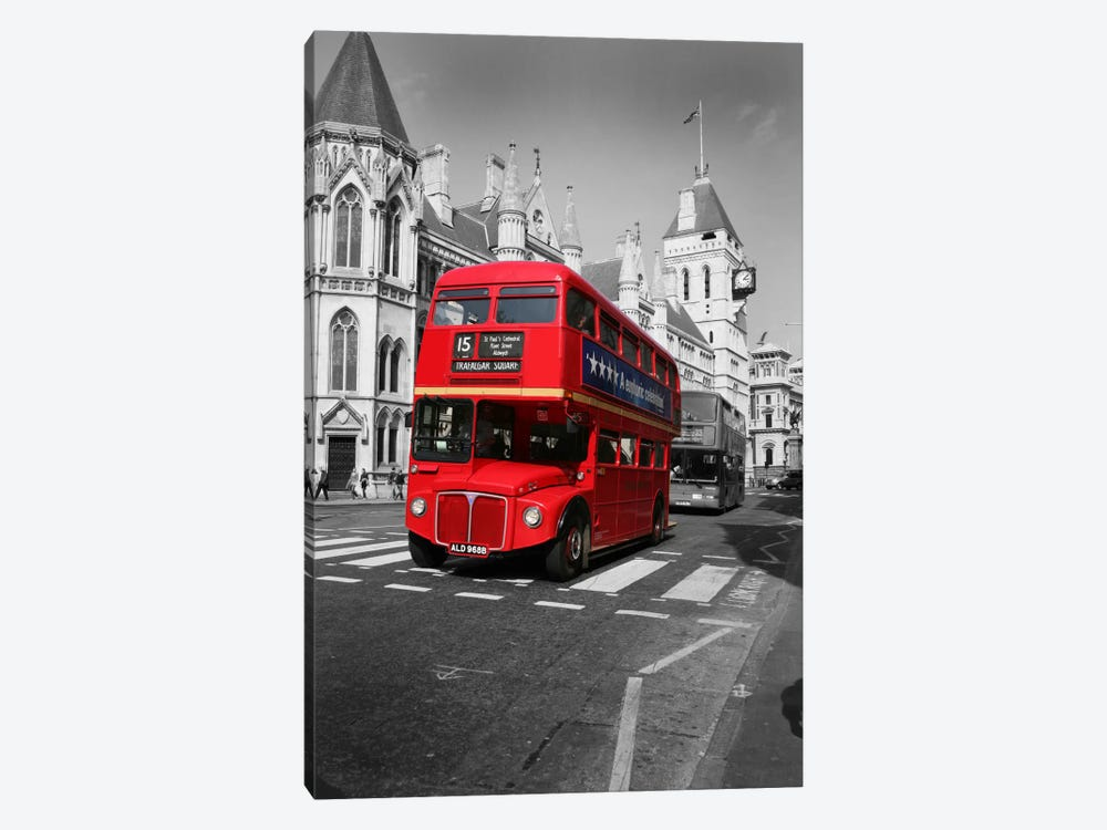 Red Bus by Christopher Bliss 1-piece Art Print