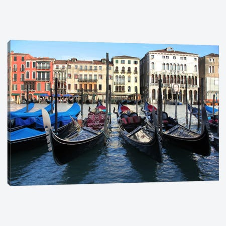 Gondolas Canvas Print #7164} by Christopher Bliss Canvas Art