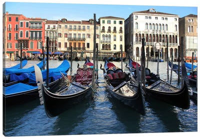 Gondolas Canvas Art Print