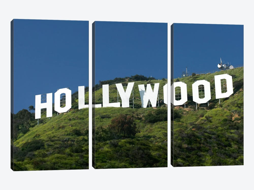 Hollywood Sign by Christopher Bliss 3-piece Canvas Artwork