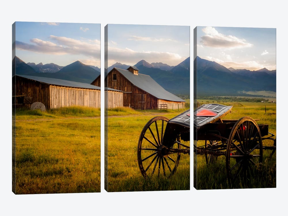 Older Times by Dan Ballard 3-piece Canvas Wall Art