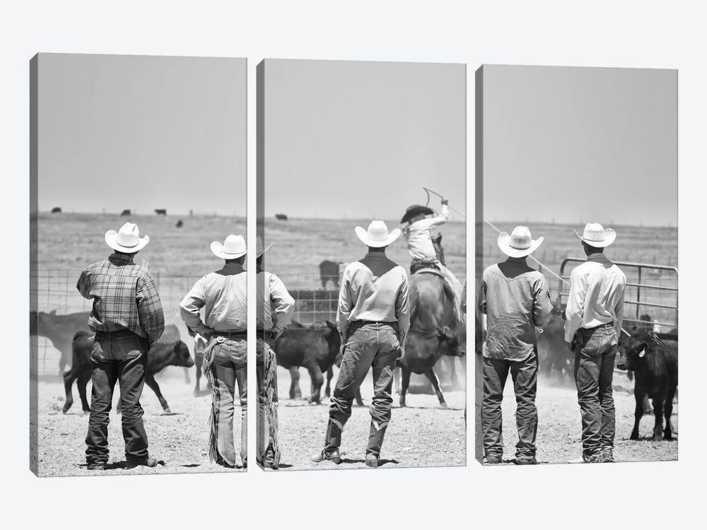 Teaching the guys by Dan Ballard 3-piece Canvas Art Print
