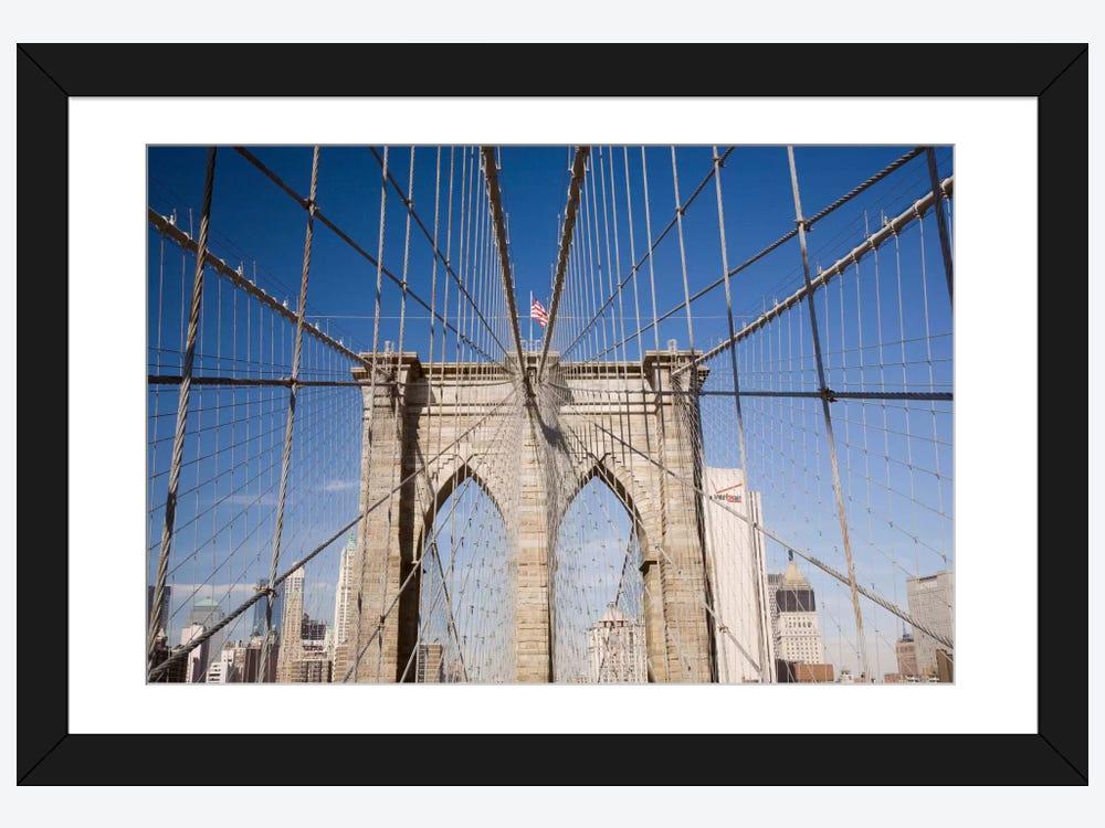 Brooklyn Bridge Framed Print by Monte Nagler | iCanvas