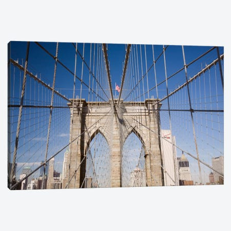 Brooklyn Bridge Canvas Print #7191} by Monte Nagler Canvas Artwork