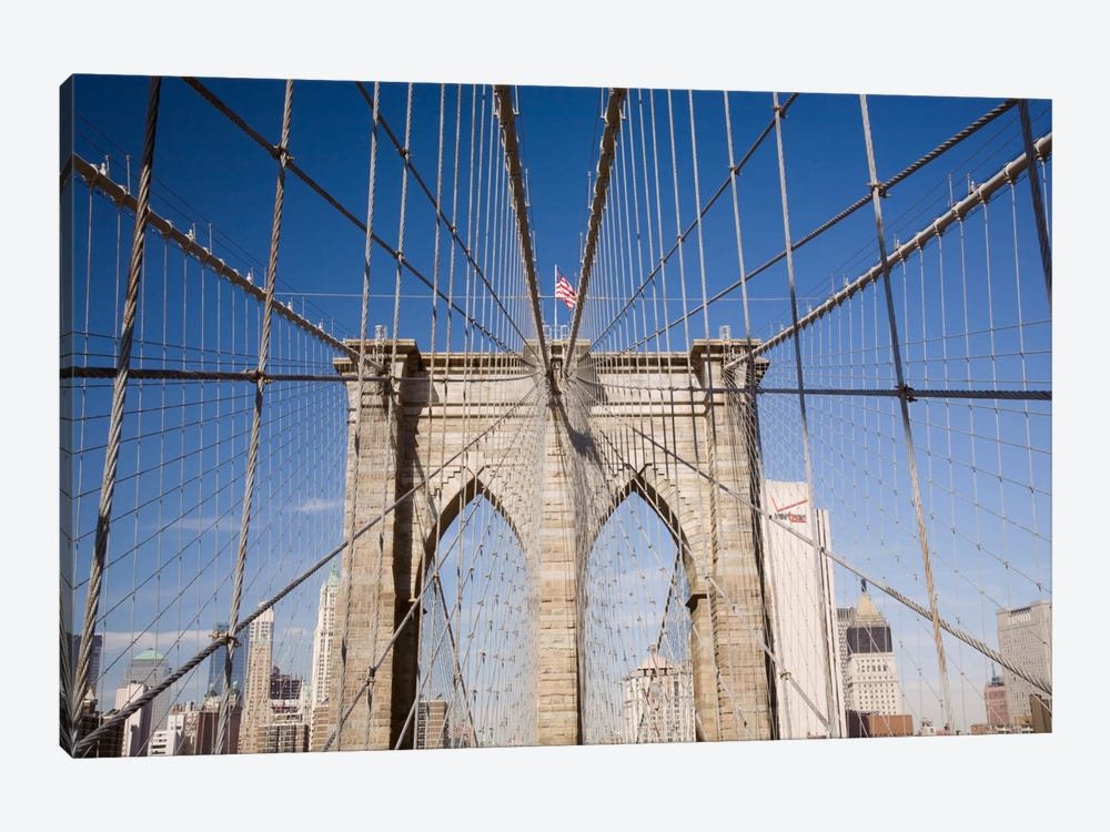 Brooklyn Bridge by Monte Nagler 1-piece Canvas Print