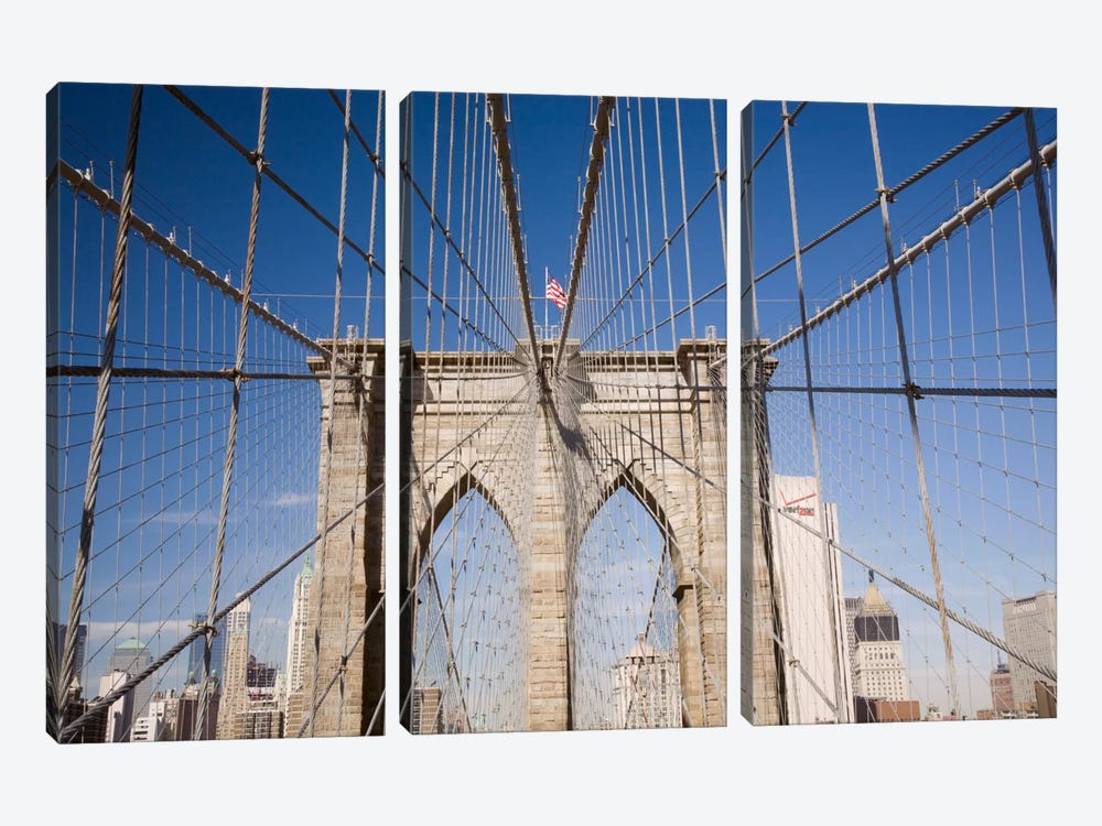Brooklyn Bridge by Monte Nagler 3-piece Canvas Print