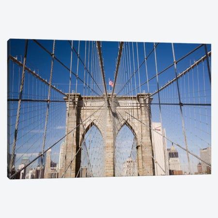 Brooklyn Bridge Canvas Print #7191} by Monte Nagler Canvas Artwork