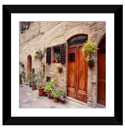 Flowers on The WallTuscany, Italy 06 - Color Framed Art Print