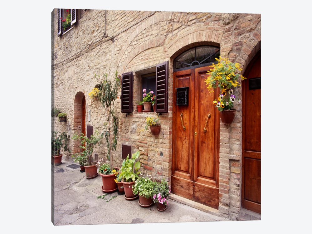 Flowers On The Wall, Tuscany, Italy by Monte Nagler 1-piece Canvas Artwork