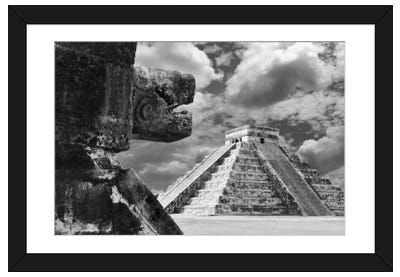 The Serpent And The Pyramid, Chechinitza, Mexico 02 Framed Art Print