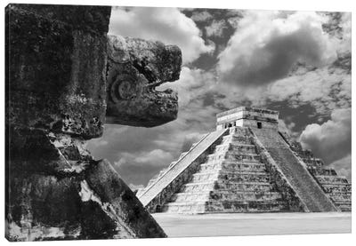 The Serpent And The Pyramid, Chechinitza, Mexico 02 Canvas Art Print