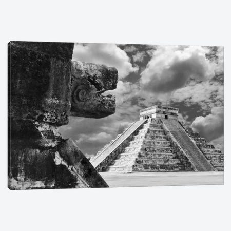 The Serpent And The Pyramid, Chechinitza, Mexico 02 3-Piece Canvas #7195} by Monte Nagler Canvas Art Print