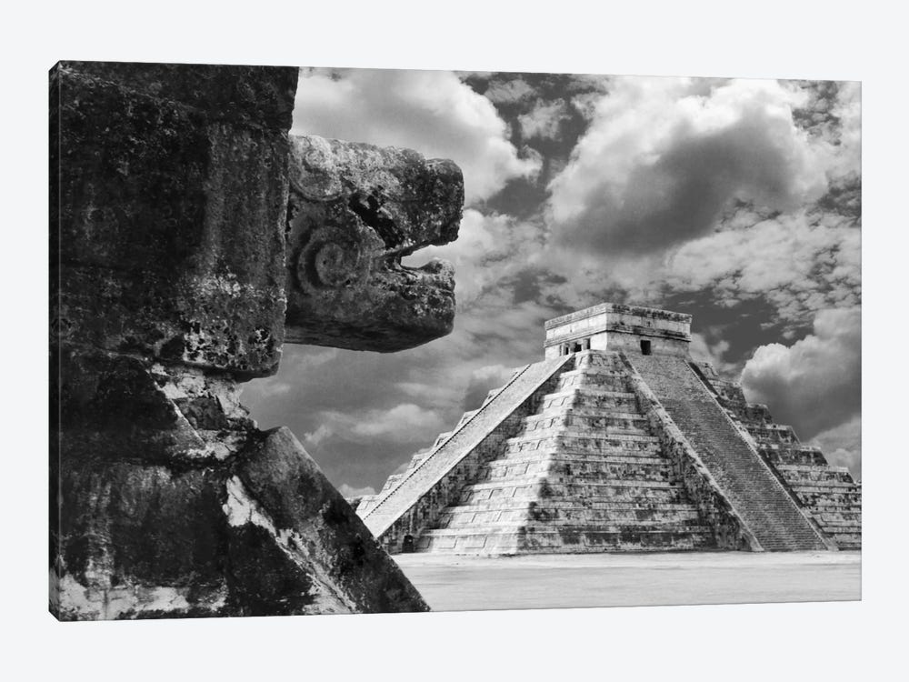 The Serpent And The Pyramid, Chechinitza, Mexico 02 by Monte Nagler 1-piece Canvas Art Print