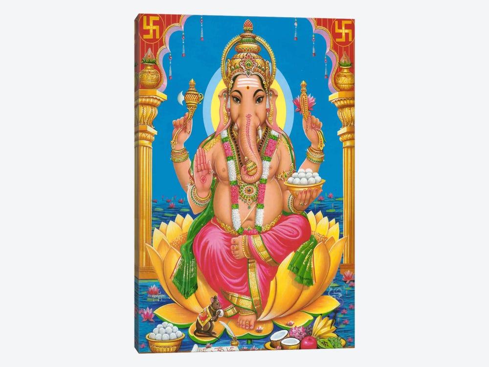 Ganesha Hindu God Fine Art by Unknown Artist 1-piece Canvas Art
