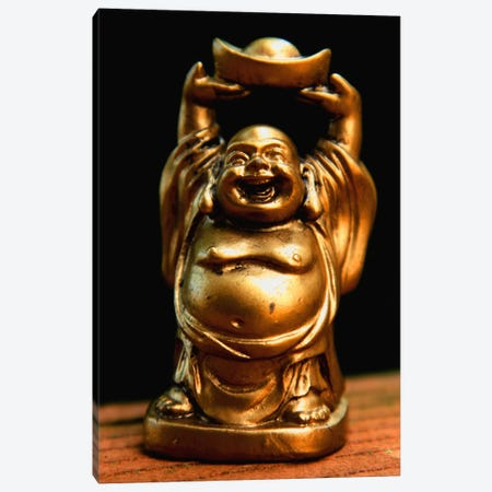 Golden Buddha Statue Canvas Print #7219} by Unknown Artist Canvas Art Print