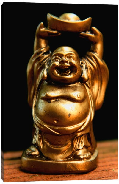 Golden Buddha Statue Canvas Art Print