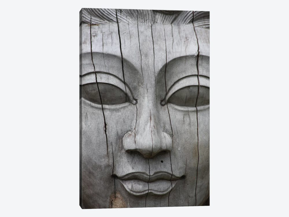 Buddha's Face by Unknown Artist 1-piece Canvas Art Print
