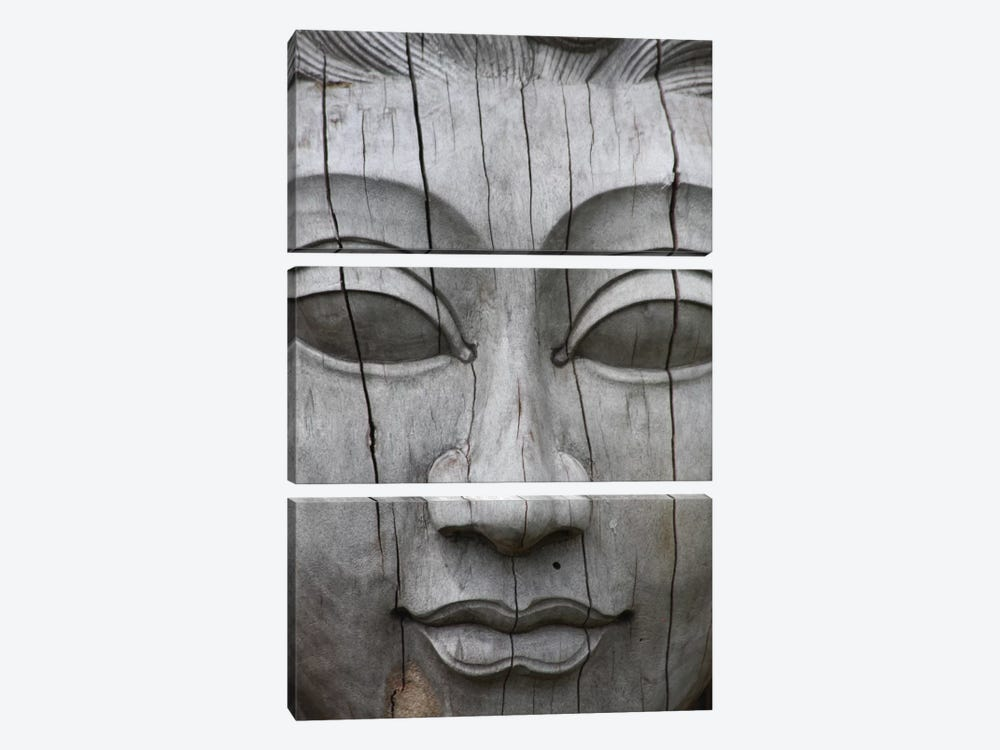 Buddha's Face by Unknown Artist 3-piece Art Print