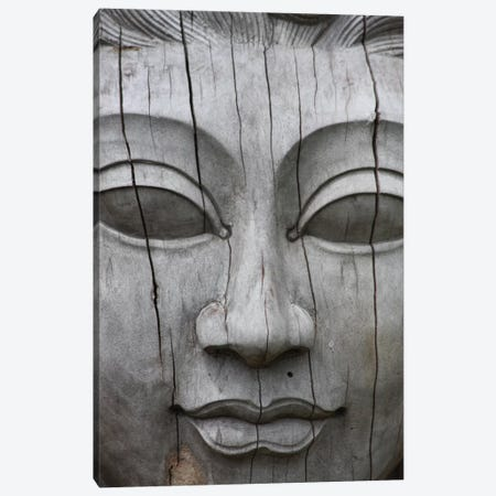 Buddha's Face Canvas Print #7220} by Unknown Artist Canvas Art
