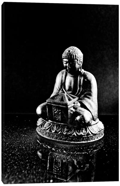 Stone Buddha Sculpture Canvas Art Print