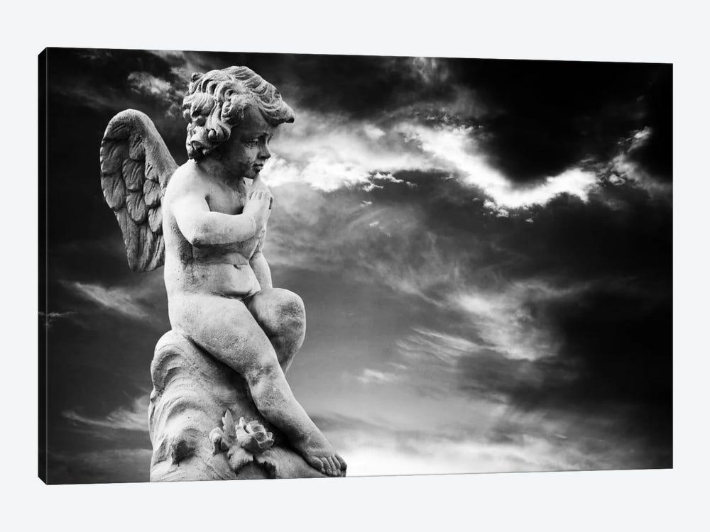 Angel Sculpture by Unknown Artist 1-piece Canvas Artwork