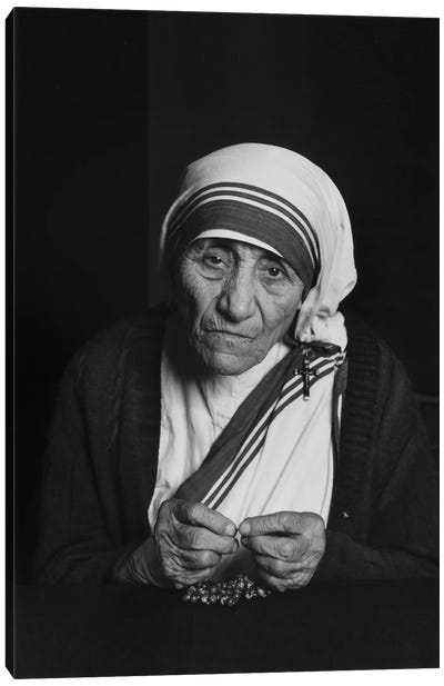Mother Teresa Photograph Canvas Art Print
