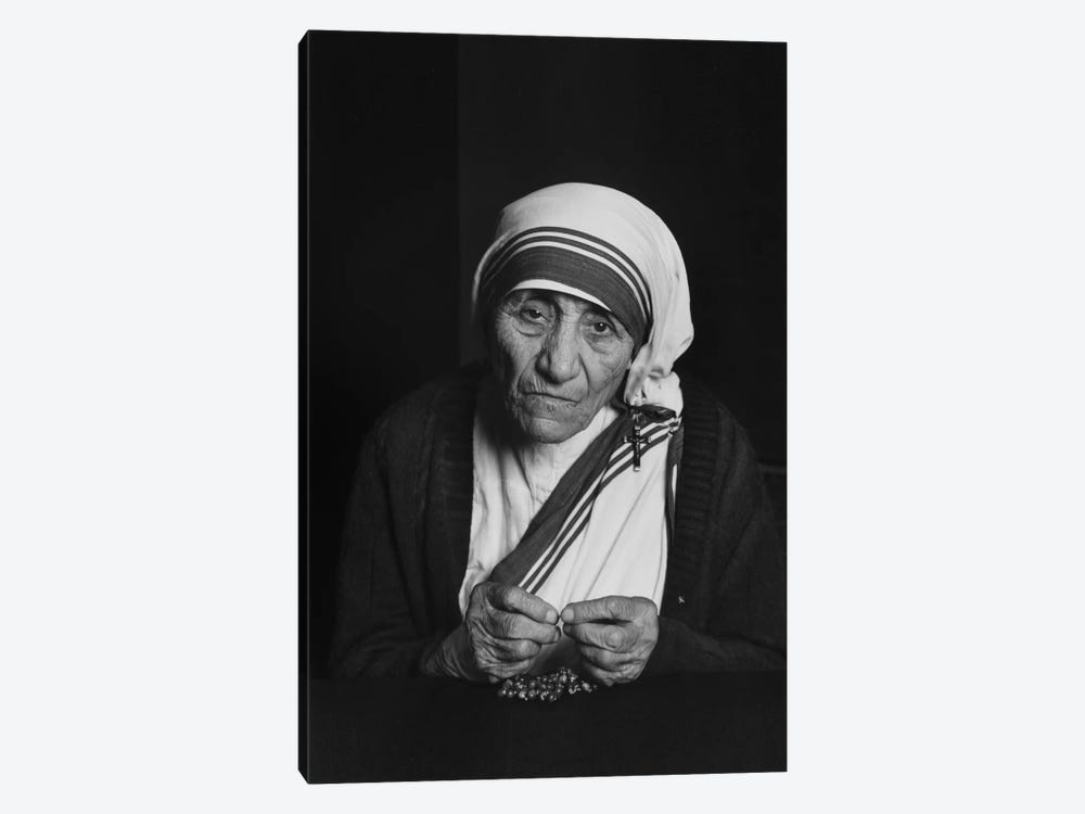 Mother Teresa Photograph 1-piece Canvas Art