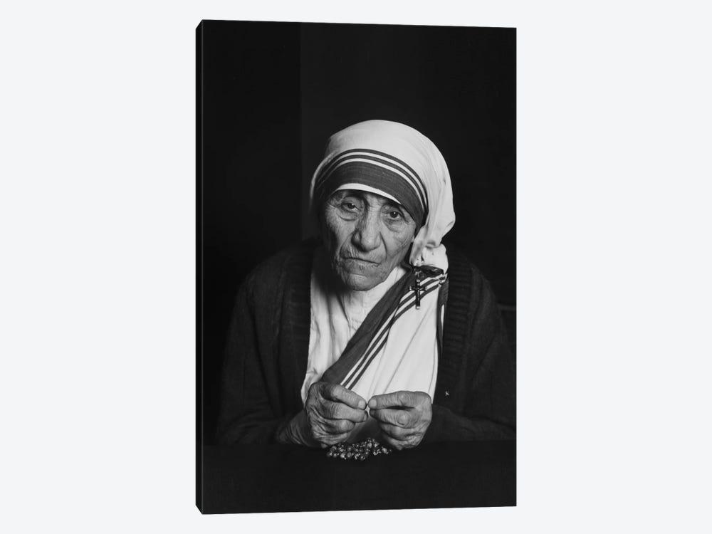 Mother Teresa Photograph by Unknown Artist 1-piece Canvas Art