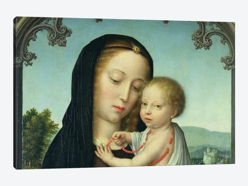 Virgin & Child by Unknown Artist 1-piece Canvas Wall Art